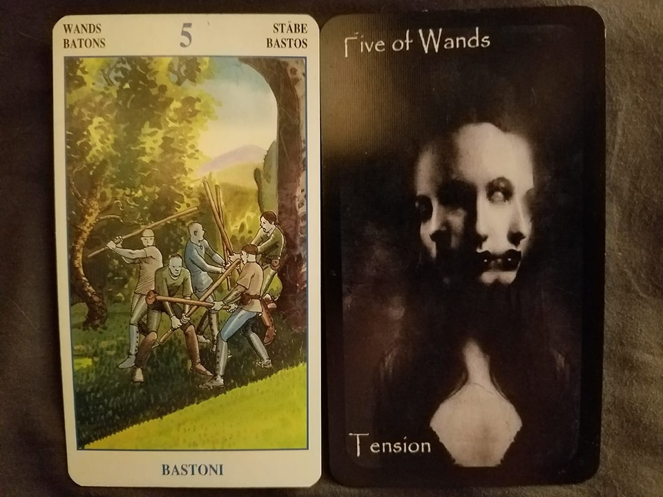 Card of the month Five of Wands